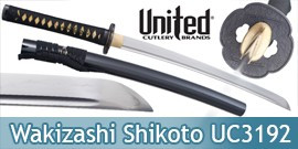 Wakizashi United Cutlery Epee Shikoto Sabre UC3192