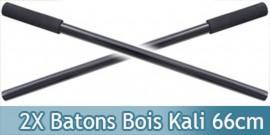 2X Batons Kali en Bois Entrainement 66cm 1905-BFX2