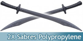Lot 2 Sabres Polypropylene Epee Noire E474-PPX2