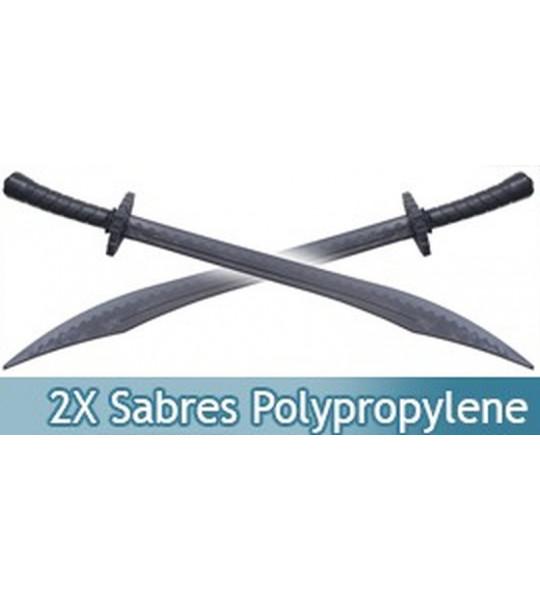 Lot 2 Sabres Polypropylene Epee Noire E474-PPX2