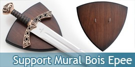 Support Mural en Bois Epee Presentoir Plaque Universelle