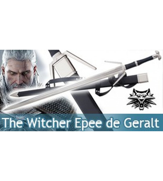 The Witcher Epee Geralt de Riv Replique Twin Wolf Sabre