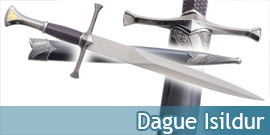 Dague Medieval Isildur Couteau Poignard Decoration