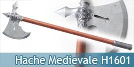 Hache Medievale Chevalier Argent