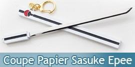 Coupe Papier Sasuke Epee Blanc Naruto 17cm Ouvre Lettre