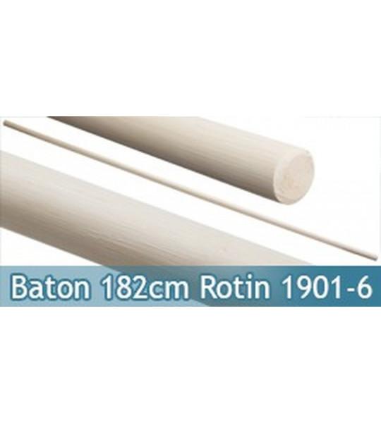 Baton Entrainement Blanc 182cm Bois Rotin 520grs 1901-6
