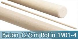 Baton Entrainement Blanc 127cm Bois Rotin 320grs 1901-4