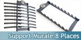 Support Bois Murale 8 Places Samourai Presentoir WS-8WX