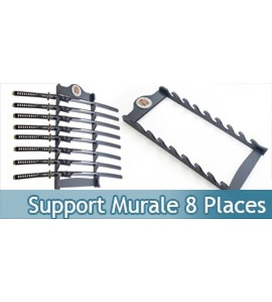 Support Bois Murale 8 Places Samourai Presentoir WS-8WX