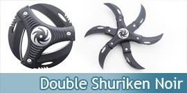 Double Shuriken Black Etoile Ninja