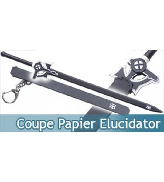 Coupe Papier Elucidator Epee Noir 21,5cm Ouvre Lettre