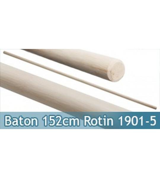 Baton Entrainement Blanc 152cm Bois Rotin 370grs 1901-5