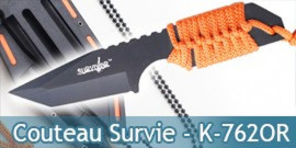 Petit Couteau de Survie Orange Collier HK-762OR