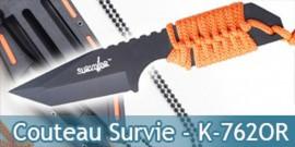 Petit Couteau de Survie Orange Collier HK-762OR