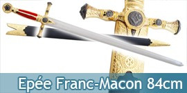 Epee Franc Macon Rouge Une Main + Fourreau