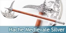 Hache Medievale Chevalier Silver