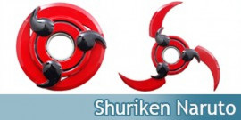 Naruto Shuirken Rouge Sharingan Decoration