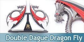 Dagues Red Dragon Fly Double Lame