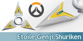Shuriken Overwatch Etoile Genji Decoration Hand Spinner