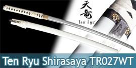 Ten Ryu - Shirasaya Katana ForgéTomoe Blanc