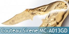 Couteau de Poche Gold Sirene MC-A013GD