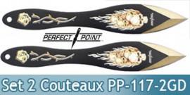 Set 2 Couteaux de Lancer Death Gold Edition PP-117-2GD