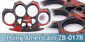 Poing Americain Acier Death Red  ZB-017R