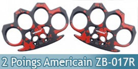 Set 2 Poing Americain Acier Death Red ZB-017RX2