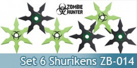 Set 6 Shurikens Zombie Hunter ZB-014 Etoiles