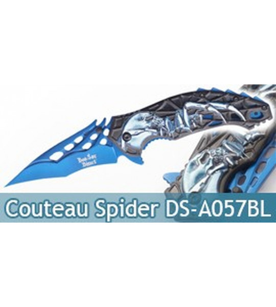 Couteau Pliant Death Spider Blue DS-A057BL