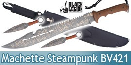 Machette The Explorer Couteau Black Legion BV421