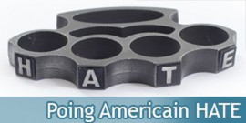 Poing Americain Acier Hate PK-2438BH