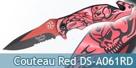 Couteau Pliant Red Death DS-A061RD Couteau de Poche