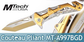 Couteau Pliant Gold Edition Mtech USA MT-A997BGD