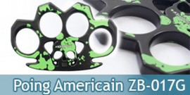 Poing Americain Acier Death Green ZB-017G