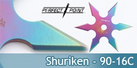Set 3 Shurikens Rainbow Etoile a Lancer Perfect Point 90-16C