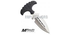 Couteau Push Dagger Tactique Silver MT-20-41SL