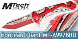 Couteau Pliant Red Edition Mtech USA MT-A997BRD