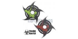 Set 2 Shurikens Circulaire Etoile Zombie Hunter ZB-105-2