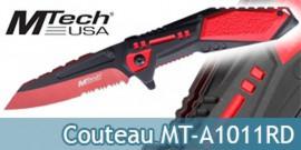Couteau Pliant Lame Rouge Couteau de Poche MT-A1011RD