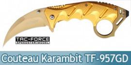 Couteau Pliant Karambit Gold Tac Force TF-957GD