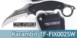 Couteau Karambit Lame Fixe Poignard Tac Force TF-FIX002SW