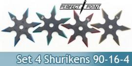 Set 4 Shurikens Etoile a Lancer Perfect Point 90-16-4