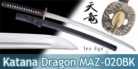 Katana Gold Dragon Lame Maru Ten Ryu MAZ-020BK