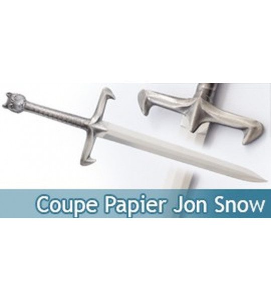 Coupe Papier Jon Snow Ouvre Lettre Longclaw Epee + Support