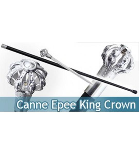 Canne Epee King de Marche Couronne Gentleman Gentlemen
