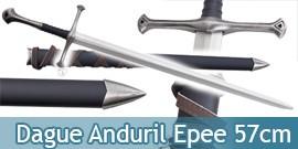 Le Seigneur des Anneaux Dague Anduril Epee Replique 57cm