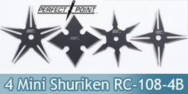 Lot 4 Mini Shurikens Ninja Etoile de Lancer RC-108-4B