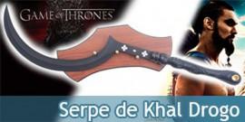 Game of Trone Réplique Épée Khal Drogo Serpe Dothrakis