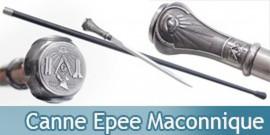 Canne Epee Maconnique de Marche Franc Macon H5938